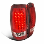 1999-2002 Chevy Silverad / GMC Sierra Performance LED Tail Lights - Red Clear