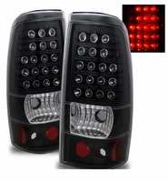 99-02 Chevy Silverado / Sierra Euro LED Tail Lights - Black