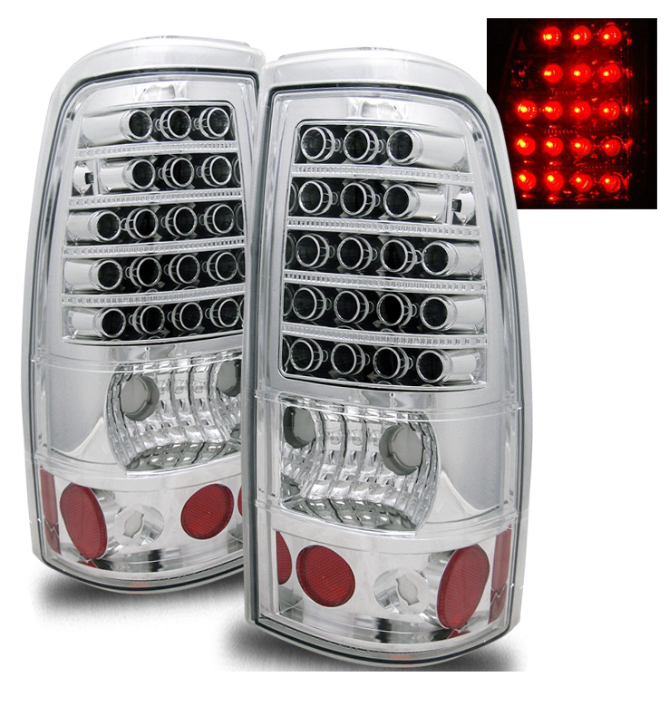 recon part 264175bk smoked led tail lights chevy 2017. Black Bedroom Furniture Sets. Home Design Ideas
