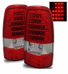 99-02 Chevy Silverado / Sierra Euro LED Tail Lights - Red / Clear