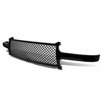 99-02 Chevy Silverado/Tahoe/Suburban Glossy Black Mesh Front Upper Bumper Grille