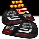 99-03 BMW E46 3-Series 2-Door Performance LED Tail Lights - Black