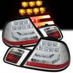 99-03 BMW E46 3-Series 2-Door Performance LED Tail Lights - Chrome