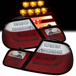 99-03 BMW E46 3-Series 2-Door Performance LED Tail Lights - Red / Clear