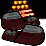 99-03 BMW E46 3-Series 2-Door Performance LED Tail Lights - Red / Smoked
