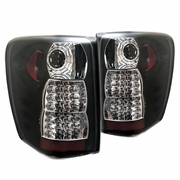 99-04 Jeep Grand Cherokee Altezza LED Tail Lights - Black ALT-YD-JGC99-LED-BK By Spyder
