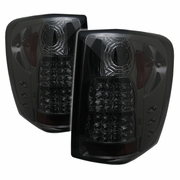 99-04 Jeep Grand Cherokee Altezza LED Tail Lights - Smoked ALT-YD-JGC99-LED-SM By Spyder