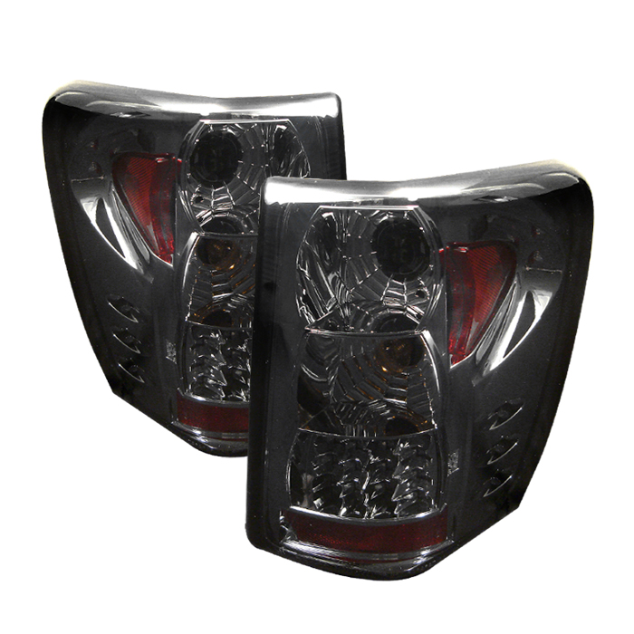 99 04 jeep grand cherokee g2 euro style led tail lights smoked alt. Black Bedroom Furniture Sets. Home Design Ideas