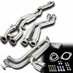 99-06 BMW E46 M3 Full Stainless Steel  Mid + Down Pipe Catback Exhaust + Muffler