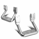 Bully Pair of Silver Aluminum Side Step Bar [Chevy / Dodge / Ford / GMC / Nissan]