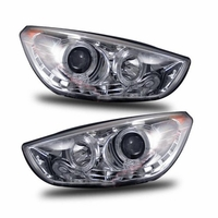 CG 10-12 Hyundai Tucson LED DRL Projector Headlights - Chrome