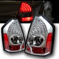 2005-2007 Chrysler 300 Performance LED Tail Lights - Chrome By Spyder