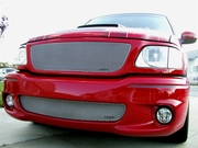 Grillcraft Mx-Series F1302-05S 99-05 Ford Lightning Grille Upper + Bumper Insert Silver