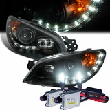 HID Xenon + 06-07 Subaru Impreza WRX / STI LED DRL Projector Headlights - Black