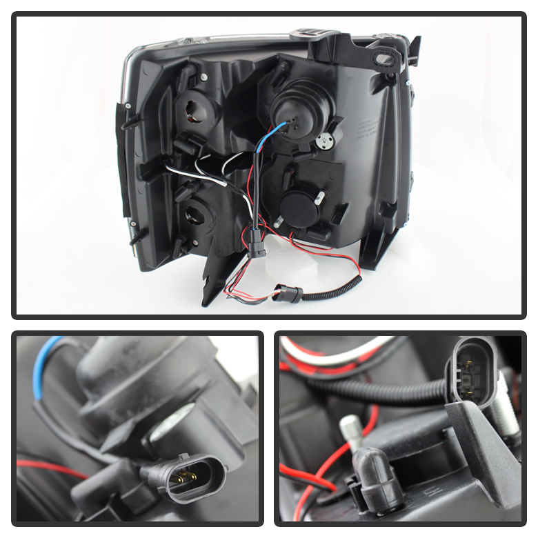 spyder headlight wiring harness spyder image xenon 07 14 chevy silverado 1500 2500 3500 halo led projector on spyder headlight wiring harness