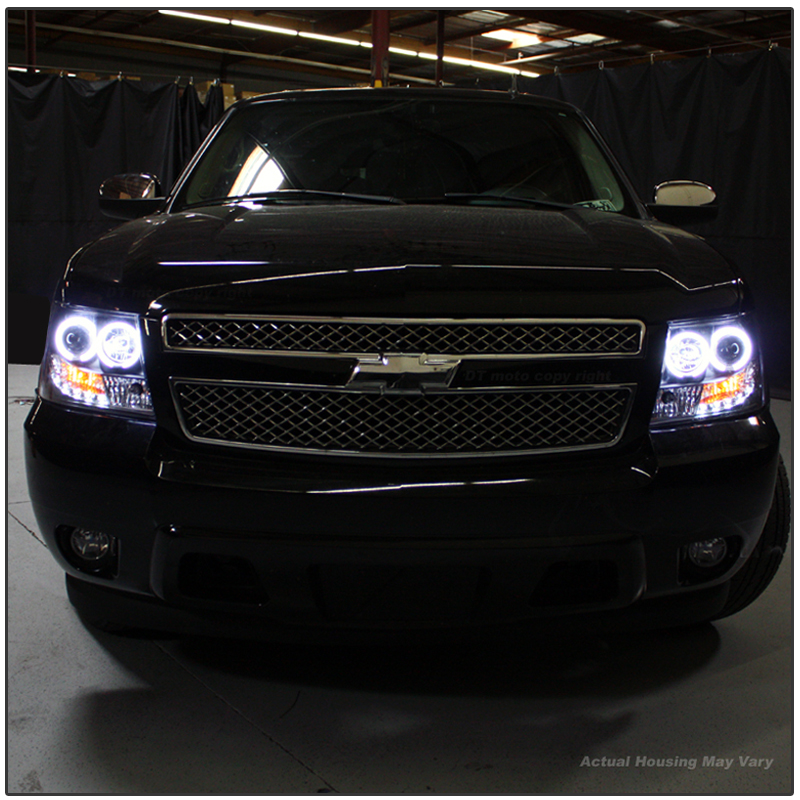 07 14 Tahoe For Sale >> HID Xenon + 07-14 Chevy Suburban / Tahoe / Avalanche Angel Eye Halo & LED Projector Headlights ...