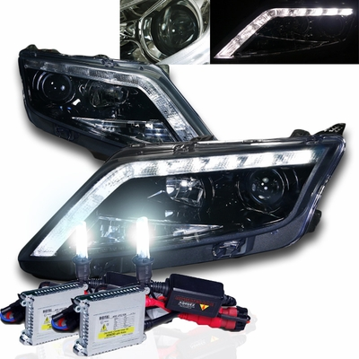 HID    Xenon  1012    Ford       Fusion    LED DRL Strip Projector