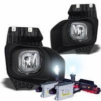 HID Xenon + 11-14 Ford F-Series Superduty Model XLT OEM Style Fog Lights Kit - Clear