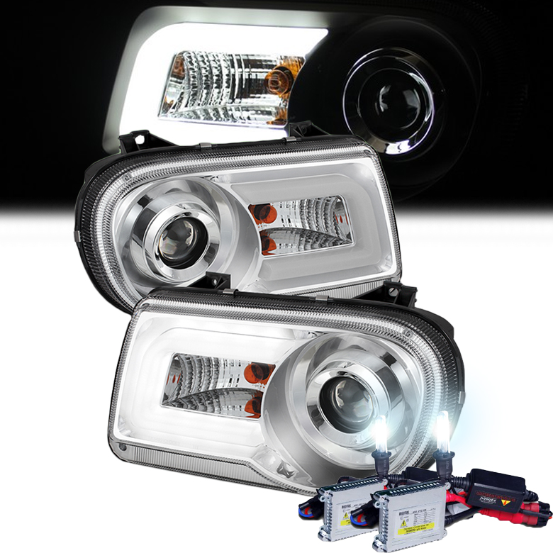 HID Xenon + 2005-2010 Chrysler 300C LED DRL Projector