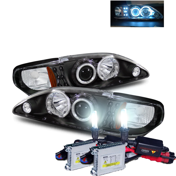 Pin Ford Mustang 94 98 Headlights Head Lamp Light Diamond ...