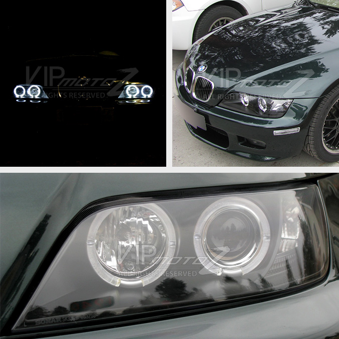 hid xenon 1996 2002 bmw z3 angel eye halo projector headlights black bmw z3 1996 2002