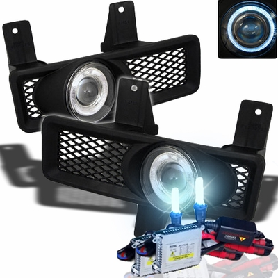 HID Xenon + 97-98 Ford F150 / F250 LD / Expedition Halo Projector Fog Lights - Clear