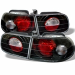 Honda Civic 92-95 2 4Dr Jdm Altezza Tail Lights - Black 111-HC92-24D-BK By Spyder
