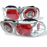 1992-1995 Honda Civic 2/4-Door Euro Altezza Tail Lights - Chrome