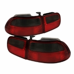 Honda Civic Eg 92-95 2 4Dr Jdm Altezza Tail Lights - Red Clear ALT-ZO-HC92-24D-RS By Spyder