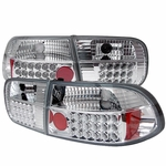 Honda Civic Eg 92-95 2 4Dr LED Jdm Altezza Tail Lights - Chrome ALT-YD-HC92-24D-LED-C By Spyder