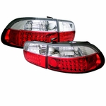 Spyder Honda Civic Eg 92-95 2 4Dr LED JDM Altezza Tail Lights - Red Clear