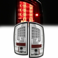Spyder 02-06 Dodge RAM V2 LED Tail Lights - Chrome