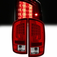 Spyder 02-06 Dodge RAM V2 LED Tail Lights - Red Clear
