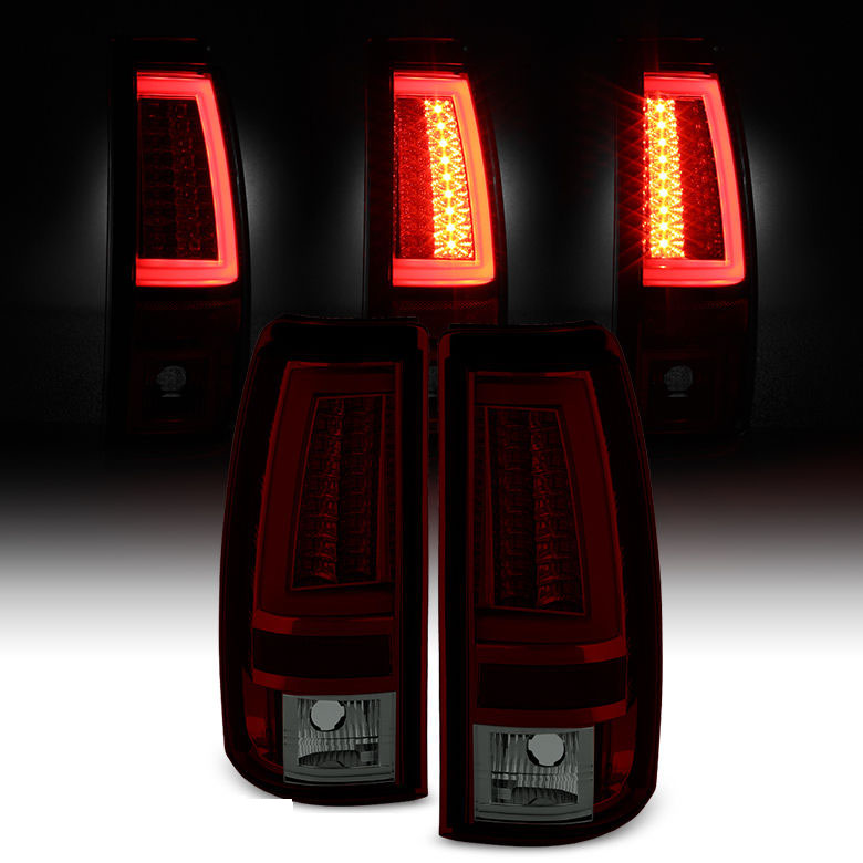 spyder 03 06 chevy silverado gmc sierra v2 led tail lights red. Black Bedroom Furniture Sets. Home Design Ideas