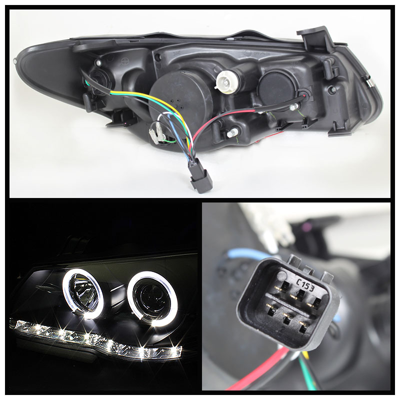 Spyder 07-10 Hyundai Elantra Angel Eye Halo LED DRL Projector ...