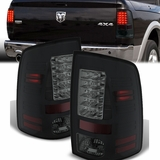 Spyder 2013-2015 Dodge RAM 1500 2500 3500 Performance LED Tail Lights - Black Smoked