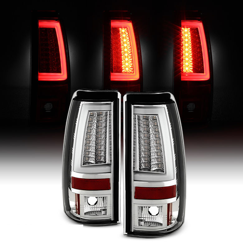 spyder 99 02 chevy silverado gmc sierra v2 led tail. Black Bedroom Furniture Sets. Home Design Ideas