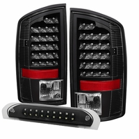 Spyder ALT-JH-DR02-LED-BK 02-06 Dodge RAM Pickup LED Tail Light - Black