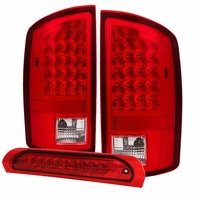 Spyder ALT-JH-DR02-LED-RC 02-06 Dodge RAM Pickup LED Tail Light - Red Clear