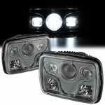 "Universal 4"" x 6"" CREE LED Projector Sealed Beam Conversion Headlights - Smoked"