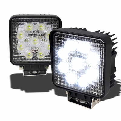 "Universal Mount 4.5"" 9 LED Powered Off-Road Work / Fog Lights Kit"