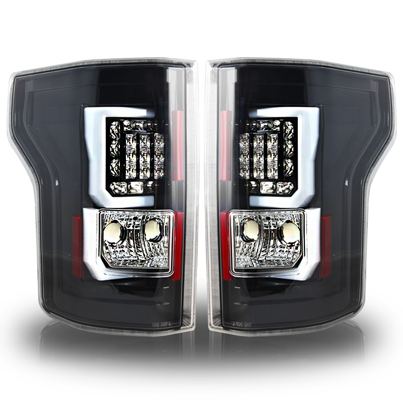 winjet 2015 ford f 150 led tail light glossy black. Black Bedroom Furniture Sets. Home Design Ideas