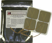 "MPO 2""x 2"" Square Tan Cloth Premium Electrodes"