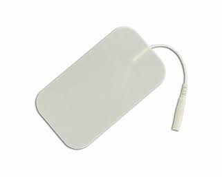"TENS ELECTRODE: MPO 2""x3.5"" Rectangle White Cloth Basic Electrodes"