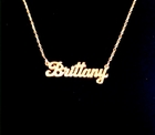 14K Gold Small Script Nameplate Necklace