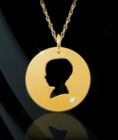 Boy Silhouette Cutout Pendant Necklace