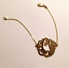 Cutout Monogram Bracelet in Silver or Gold