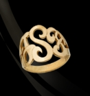 Jane Basch Signet Monogram Ring