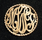 Cable Cut Out Monogram Pin/Pendant Combo