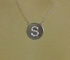 Diamond Initial or Number Charm Necklace